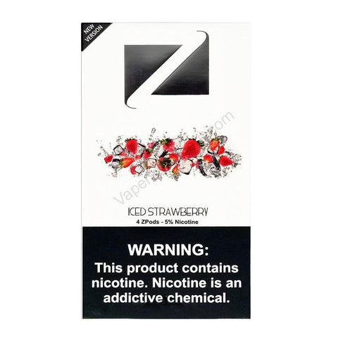 ZiiP JUUL Compatible 4% or 5% Salt Nicotine Pod Tanks - Iced Strawberry (4 Pack) - vapersandpapers.com