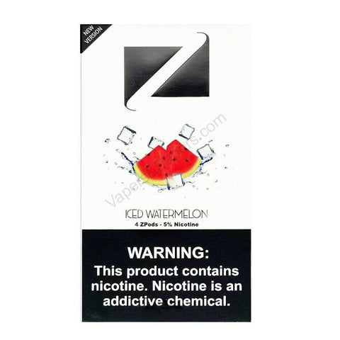 ZiiP JUUL Compatible 4% or 5% Salt Nicotine Pod Tanks - Iced Watermelon (4 Pack) - vapersandpapers.com