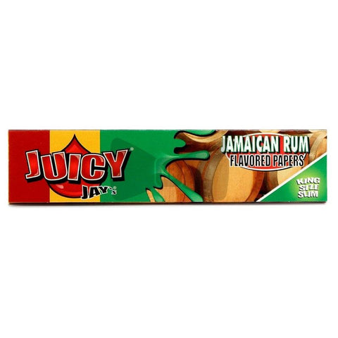 Juicy Jay's Jamaican Rum Kingsize Slim Rolling Paper - 32-Leaf Single Booklet - vapersandpapers.com