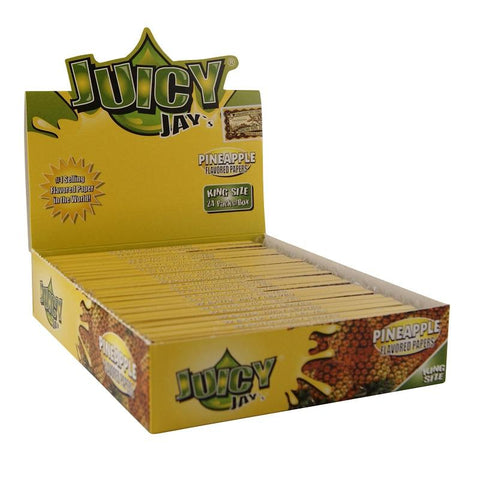 Juicy Jay's Pineapple King Size Rolling Paper - 24 Count Box - vapersandpapers.com