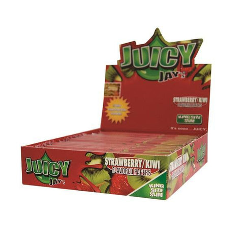 Juicy Jay's Strawberry Kiwi Kingsize Slim Rolling Paper - 24 Count Box - vapersandpapers.com