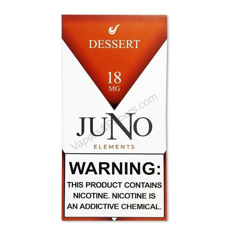 JUNO Elements (Air) Pod Tanks - 1.8%, 3.6% or 4.8% Salt Nicotine - Dessert (4 Pack) - vapersandpapers.com