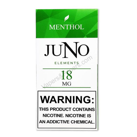 JUNO Elements (Earth) Pod Tanks - 1.8%, 3.6% or 4.8% Salt Nicotine - Menthol (4 Pack) - vapersandpapers.com