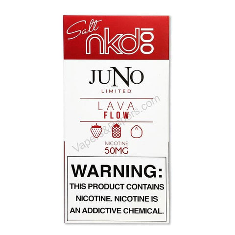 JUNO (Limited Edition) Pod Tanks - 5% Salt Nicotine - Lava Flow by Naked 100 (4 Pack) DISCONTINUED - LIMITED SUPPLY - vapersandpapers.com