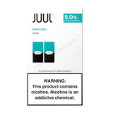 JUUL 0.7mL Pod Tanks - 3.0% or 5.0% Salt Nicotine - Menthol (2 Pack) - vapersandpapers.com