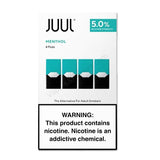 JUUL 0.7mL Pod Tanks - 3.0% or 5.0% Salt Nicotine - Menthol (4 Pack) - vapersandpapers.com