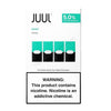 JUUL Pod Tanks - 3% or 5% Salt Nicotine - Mint (4 Pack) DISCONTINUED - LIMITED SUPPLY - vapersandpapers.com