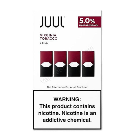 JUUL 0.7mL Pod Tanks - 3.0% or 5.0% Salt Nicotine - Virginia Tobacco (4 Pack) - vapersandpapers.com