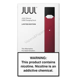 JUUL Pod Vape Device Kit - Pod Vaporizer (Limited Edition - Maroon Red) - vapersandpapers.com