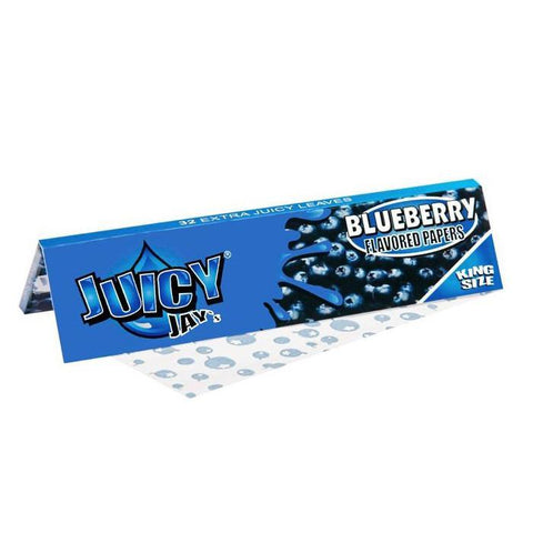 Juicy Jay's Blueberry King Size Rolling Paper - 32-Leaf Single Booklet - vapersandpapers.com