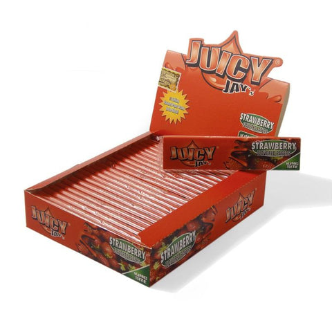 Juicy Jay's Strawberry King Size Rolling Paper - 24 Count Box - vapersandpapers.com