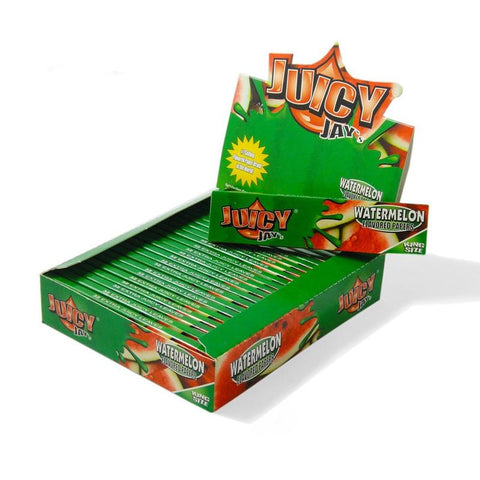 Juicy Jay's Watermelon Kingsize Slim Rolling Paper - 24 Count Box - vapersandpapers.com