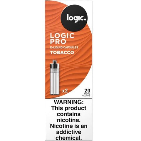 LOGIC PRO 1.5mL Capsule Tanks  - 1.8% (20mg) Nicotine - Tobacco Flavor (2 Pack) - vapersandpapers.com