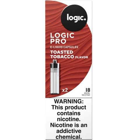 LOGIC Pro Capsule Tanks  - 1.8% (18mg) Nicotine - Toasted Tobacco Flavor (2 Pack) - vapersandpapers.com