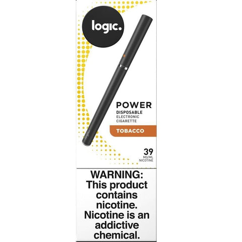 LOGIC Power Series 1.2mL Disposable e-Cig - 3.9% Freebase Nicotine - Tobacco (1 Pack) - vapersandpapers.com