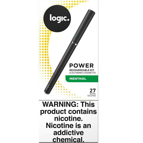 LOGIC Power Series e-Cig Starter Kit - Cartomizer Vaporizer w/ Menthol Cartomizer - vapersandpapers.com