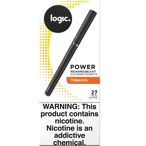 LOGIC Power Series e-Cig Starter Kit - Cartomizer Vaporizer w/ Tobacco Flavor Cartomizer - vapersandpapers.com