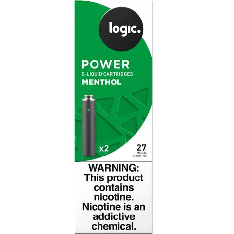LOGIC Power Series 1.2mL Cartomizer Tanks - 2.4% (27mg) Nicotine - Menthol (2 Pack) - vapersandpapers.com