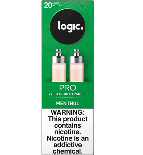 LOGIC Pro Black Label Capsule Cartridge Refills - 1.8% Nicotine 20mg - Menthol (2 Pack)