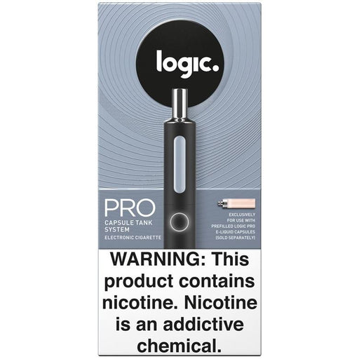 LOGIC PRO Kit - Capsule Cartridge Vaporizer w/ FREE Capsule Cartridge 2-Pack Refills (Black)