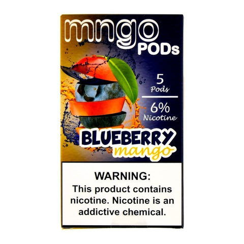 mngo JUUL Compatible Pod Tanks - 6% Salt Nicotine - Blueberry Mango (5 Pack)
