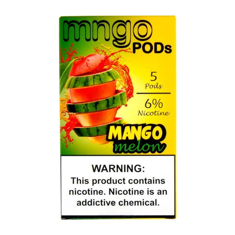 mngo JUUL Compatible Pod Tanks - 6% Salt Nicotine - Mango Melon (5 Pack) DISCONTINUED -  LIMITED SUPPLY - vapersandpapers.com