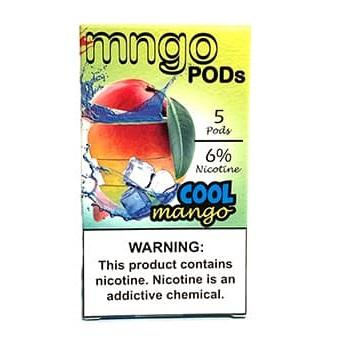 "mngo JUUL Compatible Pod Tanks - 6% Salt Nicotine - Cool Mango (5 Pack) DISCONTINUED -  SEARCH ""MNGO STICK"" for Similar Product - vapersandpapers.com"