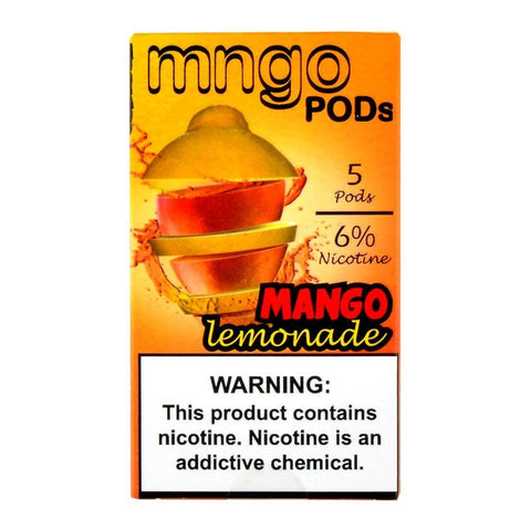 mngo JUUL Compatible Pod Tanks - 6% Salt Nicotine - Mango Lemonade (5 Pack) DISCONTINUED -  LIMITED SUPPLY - vapersandpapers.com