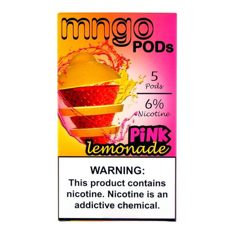 mngo JUUL Compatible Pod Tanks - 6% Salt Nicotine - Pink Lemonade (5 Pack)