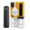 MYLE Mini 1.2mL Disposable Pod Vape - 2% or 5% Salt Nicotine - Tobacco Gold (2 Pack)