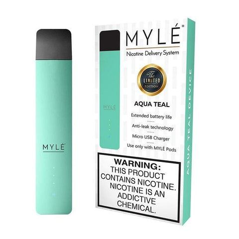 MYLE V3 Pod Vape Device Kit  - Pod Vaporizer (Limited Edition - Aqua Teal) - vapersandpapers.com