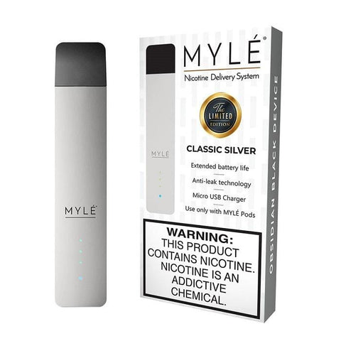 MYLE V3 Pod Vape Device Kit  - Pod Vaporizer (Limited Edition - Classic Silver) - vapersandpapers.com