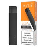 MYLE Slim (Mini 2) 1.2mL Disposable Pod Vape - 5% Salt Nicotine - Iced Mango (1 Pack) - vapersandpapers.com