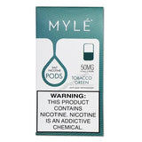 MYLE V3 0.9mL Pod Tanks - 5% Salt Nicotine - Tobacco Green (2 Pack)