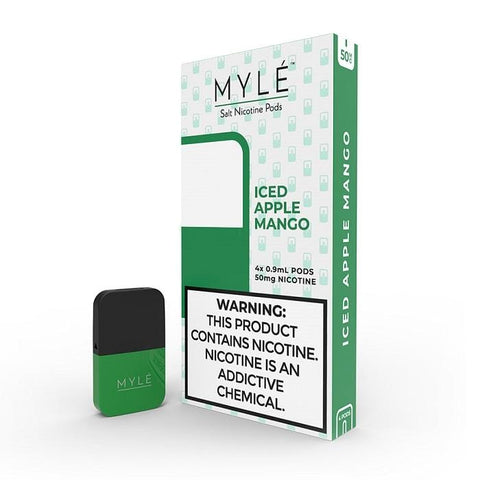 MYLE V3 0.9mL Pod Tanks - Iced Apple Mango (4 pack) DISCONTINUED - LIMITED SUPPLY - vapersandpapers.com