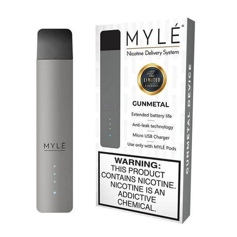MYLE V3 Pod Vape Device Kit  - Pod Vaporizer (Gunmetal Gray) - vapersandpapers.com