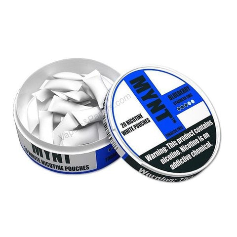 MYNT Nicotine Pouches - 6mg Nicotine - Blueberry (20 Count Tin) - vapersandpapers.com