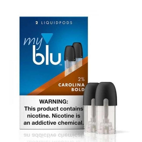 myblu™ Liquidpod 1.5mL Pod Tanks - 2% Nicotine - Carolina Bold Tobacco (2 Pack) - vapersandpapers.com