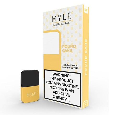 MYLE V3 0.9mL Pod Tanks - Pound Cake (4 pack) DISCONTINUED - LIMITED SUPPLY - vapersandpapers.com