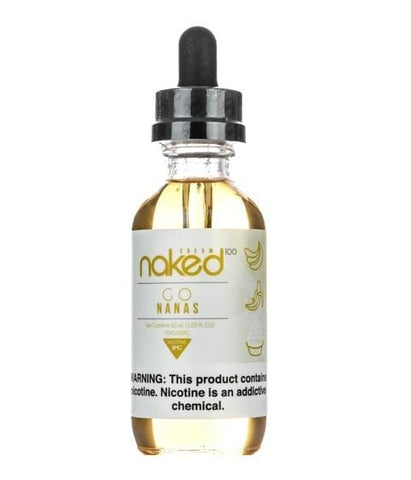 Naked 100 Cream e-Liquid - Go Nanas - 60mL - vapersandpapers.com