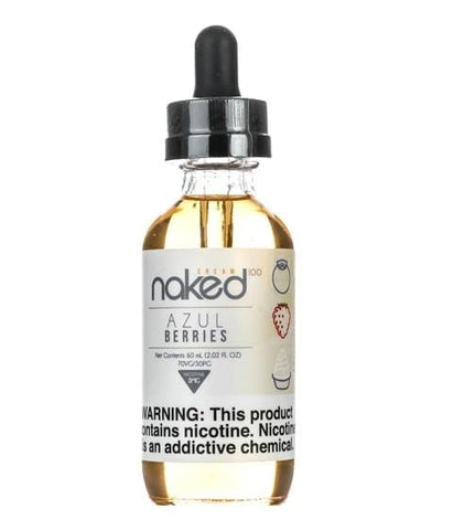 Naked 100 Cream e-Liquid - Azul Berries - 60mL - vapersandpapers.com