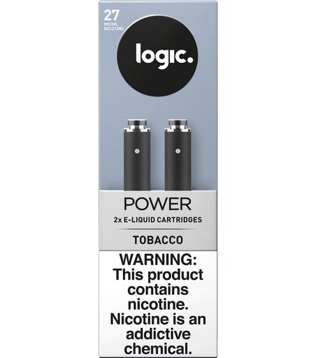 LOGIC Power Series Platinum Label Cartridge Refills - 2.4% Nicotine 27mg - Tobacco Flavor (2 Pack)