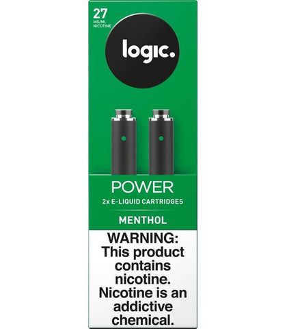 LOGIC Power Series Platinum Label Cartridge Refills - 2.4% Nicotine 27mg - Menthol (2 Pack) - vapersandpapers.com