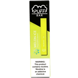 PUFF BAR 1.3mL Disposable Pod Vape - 2% or 5% Salt Nicotine - Melon Ice (1 Pack) - vapersandpapers.com