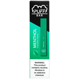 PUFF BAR 1.3mL Disposable Pod Vape - 2% or 5% Salt Nicotine - Menthol (1 Pack) - vapersandpapers.com