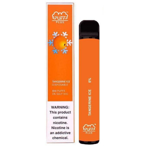 PUFF BAR Plus Edition 3.2mL Disposable Pod Vape - 2% or 5% Salt Nicotine - Tangerine Ice (1 Pack)