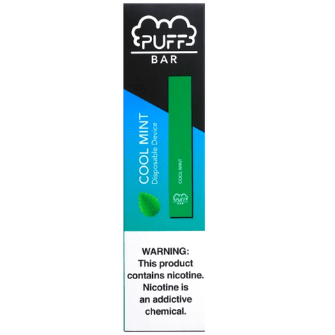 PUFF BAR 1.3mL Disposable Pod Vape - 2% or 5% Salt Nicotine - Cool Mint (1 Pack) - vapersandpapers.com