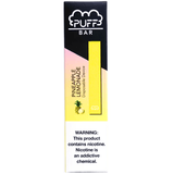 PUFF BAR 1.3mL Disposable Pod Vape - 2% or 5% Salt Nicotine - Pineapple Lemonade (1 Pack) - vapersandpapers.com