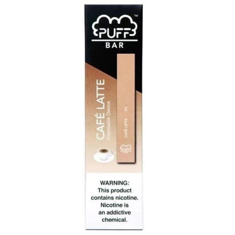 PUFF BAR 1.3mL Disposable Pod Vape - 2% or 5% Salt Nicotine - Caffe Latte (1 Pack) - vapersandpapers.com