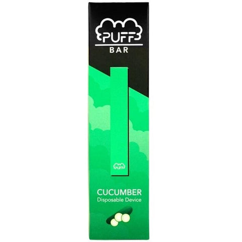 PUFF BAR 1.3mL Disposable Pod Vape - 2% or 5% Salt Nicotine - Cucumber (1 Pack) - vapersandpapers.com